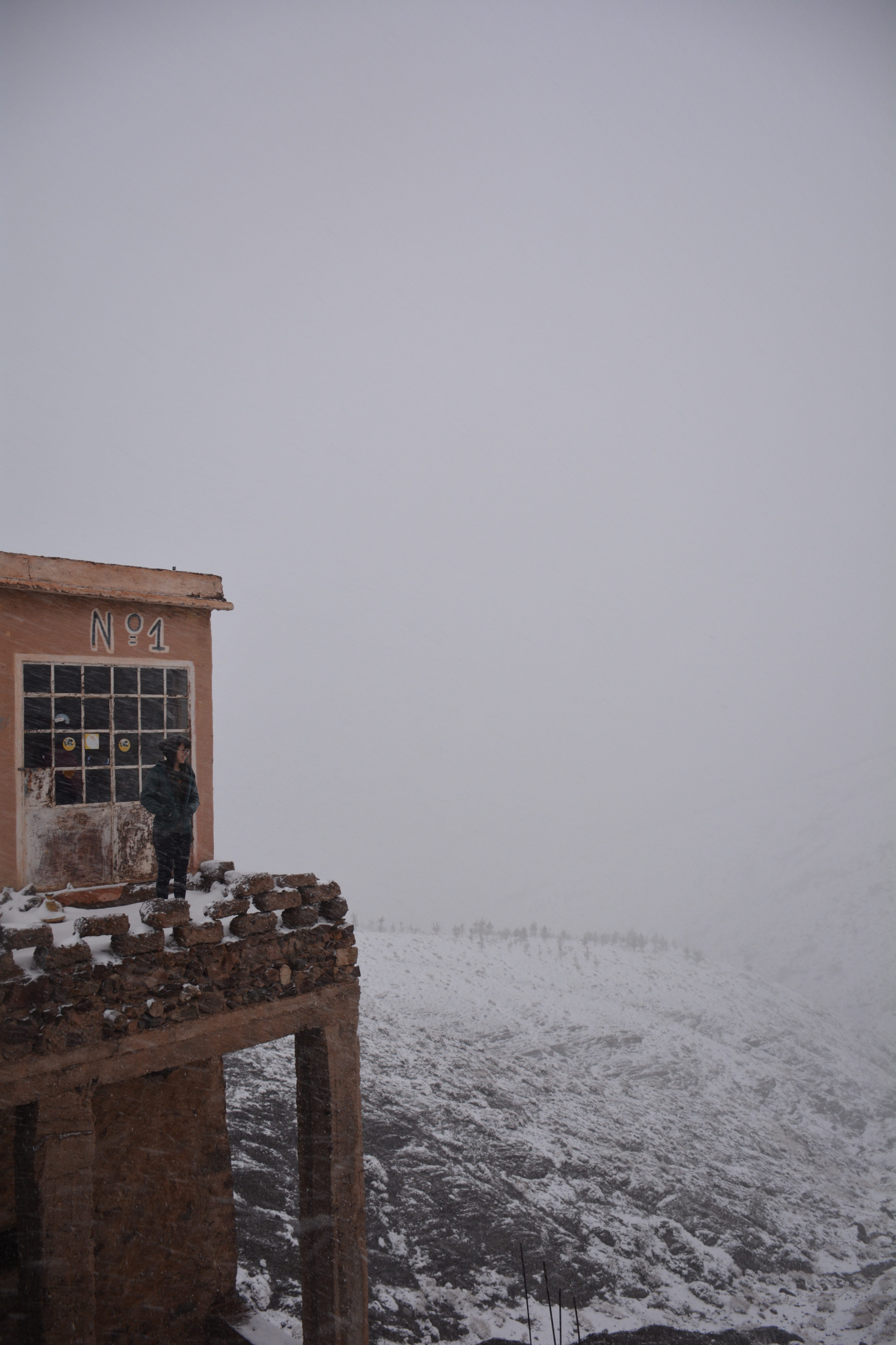Unexpected snow on the High Atlas Mountains