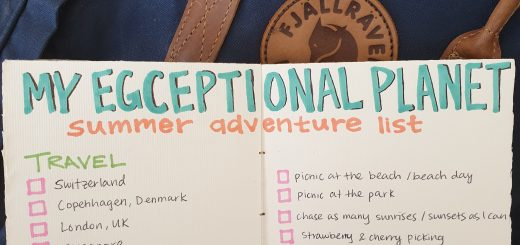 My Egceptional Planet Summer Adventure List